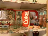 LARGE LOT OF COKE ITEMS / TRAY