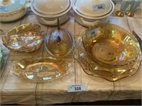 LARGE LOT OF CARNIVAL GLASS