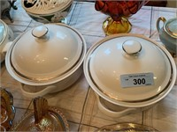 2PC LIDDED CASSEROLE DISHES