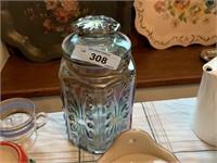 VTG IRRIDESCENT GLASS COOKIE JAR