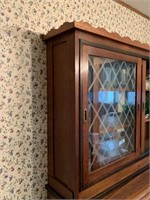 VTG OAK CHINA CABINET / TOPPER (SEPARATE FROM BOT-