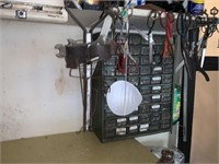 LARGE LOT CABINETS W STORAGE / METAL CABINET