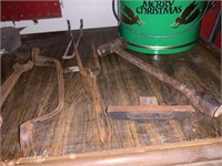 LARGE LOT OF PRIMITIVE TOOLS AND MORE