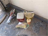 LARGE LOT OF GARAGE ITEMS / CHAINS MORE