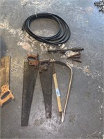 LOT OF VTG TOOLS / SAWS MORE