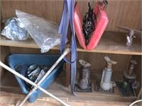 CONTENTS OF SHELF / JACKS MORE GARAGE ITEMS