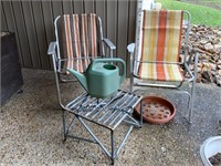 LOT OF FOLDING CHAIRS AND MORE