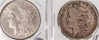Coin 2 Morgan Silver Dollars 1890 & 1892-S