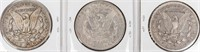 Coin 3 Morgan Silver Dollars 1890-O, 1891 & 92-O