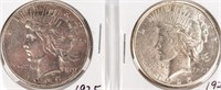 Coin 2 Peace Silver Dollars 1925 & 1925-S