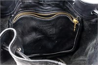 Coach Black Leather Duffle Sac Purse