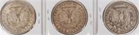 Coin 3 Morgan Silver Dollars 1921 P, D & S
