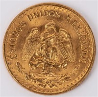 Coin 1945 Dos Peso Gold Coin Brilliant Unc.