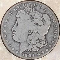 Coin 1904-S Morgan Silver Dollar With Display Card