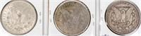 Coin 3 Morgan Silver Dollars 1880, 1882 & 1886