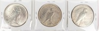 Coin 3 Peace Silver Dollars 1922 P, D & S