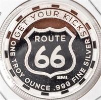 Coin (2) .999 Fine Silver 2 Oz. Total - Route 66