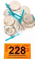 Coin (10) Eisenhower Dollars 1974-P Brilliant Unc
