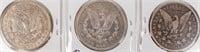 Coin 3 Morgan Silver Dollars 1900-P, O & S