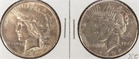 Coin 2 Peace Silver Dollars 1922 & 1935