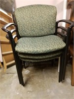 (5) Green Print Side Chairs  $25.00 Reserve