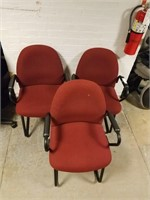 (42 ) Burgundy Office Chairs $25.00 Reserve