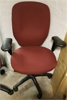 (41a ) Burgundy Office Chair $15.00 Reserve