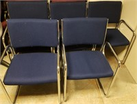 (45) Navy Side Chairs $25.00 Reserve