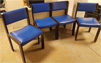 (47) Padded Blue Chairs $20.00 Reserve
