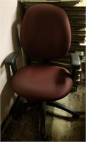 (54a) Burgundy Task Chair $15.00 Reserve