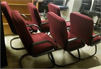(53) Burgundy Chairs $40.00 Reserve