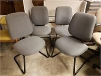 (61) Grey side Chairs $25.00 Reserve