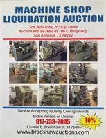 Machine Shop Liquidation Auction