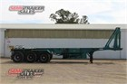 1996 Krueger Skeletal Trailer Skeletals Tipping