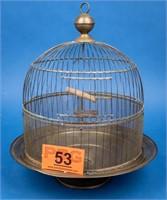 Vintage Hendryx Brass Beehive Birdcage