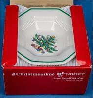 """""""Christmastime"""" Dinnerware by Nikko Set for 8"""