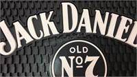 Jack Daniels Heavy Rubber Bar Mat 17x17