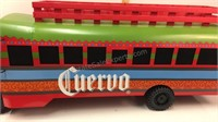 Large Jose Cuervo Tin with Wood Party Bus Decor
