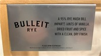 The Whisky 5 wooden display case with Bulleit Rye