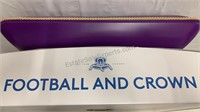 Football and Crown plastic display pillow