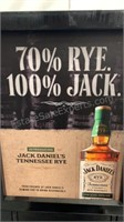 Jack Daniels Rye Whisky wooden display case