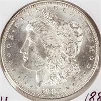 Coin 1882-S Morgan Silver Dollar Brilliant Unc.