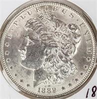 Coin 1889 Morgan Silver Dollar Brilliant Unc.
