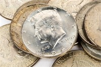 Coin (20) Kennedy 40% Silver Half Dollars