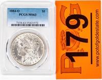 Coin 1884-O Morgan Silver Dollar PCGS MS63