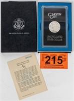 Coin 1884-CC Morgan Silver Dollar in GSA Box