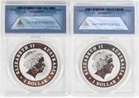 Coin 2 Certified Australia .999 Fine Silver ANACS