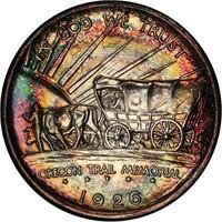 50C 1926-S OREGON. PCGS MS67 CAC