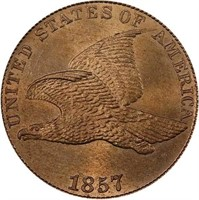 1C 1857 FLYING EAGLE. PCGS MS65+ CAC