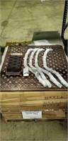 """Weave Cast Aluminum Table - 36"""" Square -Qty 24"""